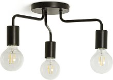 Argos Home Rayner 3 Arm Flush to Ceiling Light -