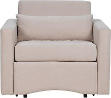 Argos Home Reagan Fabric Chair Bed - Natural