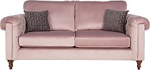 Argos Home Rebecca 3 Seater Fabric Sofa - Blush