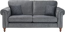 Argos Home Rebecca 3 Seater Fabric Sofa - Charcoal