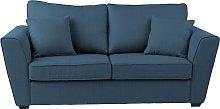 Argos Home Renley 2 Seater Fabric Sofa bed - Blue