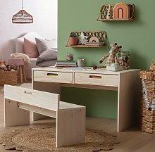 Argos Home Rico Desk and Bench - Pine