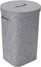 Argos Home Round Felt Laundry Basket - Grey