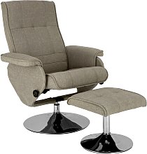 Argos Home Rowan Fabric Swivel Chair & Footstool