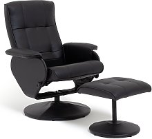 Argos Home Rowan Faux Leather Swivel Chair &