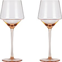Argos Home Sahara Set of 2 Wine Glasses - Pink