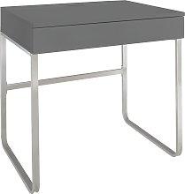 Argos Home Sammy 1 Drawer Desk - Grey Gloss