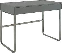 Argos Home Sammy 2 Drawer Desk - Grey Gloss