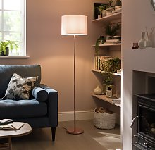 Argos Home Satin Stick Floor Lamp - Rose Gold &