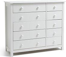 Argos Home Scandinavia 5+5 Drawer Chest - White