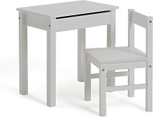 Argos Home Scandinavia Desk & Chair - White