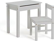 Argos Home Scandinavia Kids Desk & Chair - White