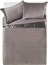 Argos Home Sequin Leopard Print Bedding Set -