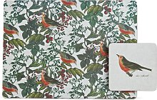 Argos Home Set of 4 Robin Placemat and Coaster