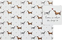 Argos Home Set of 4 Spotty Dachshund Placemats and