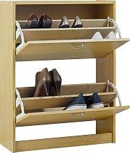 Argos Home Shoe Storage Cabinet - Oak Effect