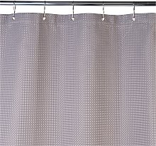 Argos Home Shower Curtain - Grey Waffle