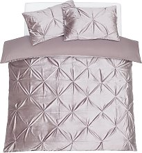 Argos Home Silver Velvet Pintuck Bedding Set -