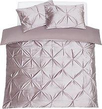 Argos Home Silver Velvet Pintuck Bedding Set -