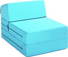Argos Home Single Chair Bed - Crystal Blue