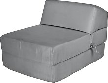 Argos Home Single Cotton Chair Bed - Flint Grey