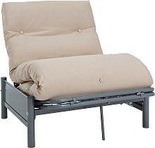 Argos Home Single Futon Metal Sofa Bed w/ Mattress