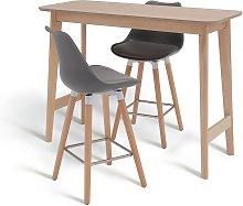 Argos Home Skandi Bar Table & 2 Charlie Bar Stools