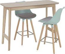 Argos Home Skandi Bar Table & 2 Charlie Mint Bar