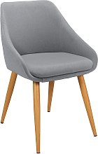 Argos Home Skandi Fabric Office Chair - Grey