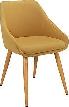 Argos Home Skandi Fabric Office Chair - Yellow