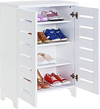 Argos Home Slatted 2 Door Shoe Storage Cabinet -