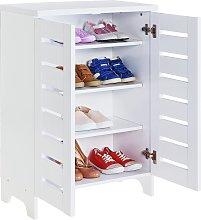 Argos Home Slatted 2 Door Shoe Storage Cabinet -
