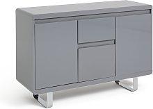 Argos Home Sleigh 3 Door 1 Drawer Sideboard - Grey