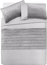 Argos Home Sparkle Silver Velvet Bedding Set -