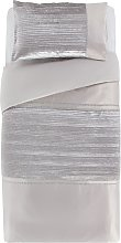 Argos Home Sparkle Silver Velvet Bedding Set -