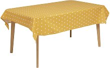 Argos Home Spot Wipe Clean Tablecloth - Mustard