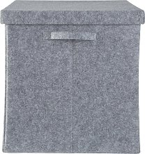 Argos Home Square 40cm Felt Storage Box with Lid