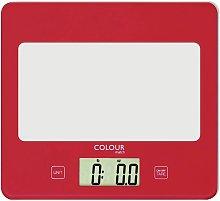 Argos Home Square Digital Kitchen Scale - Poppy Red