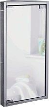 Argos Home Stainless Steel 1 Door Mirrored Cabinet