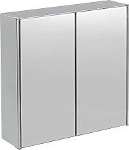 Argos Home Stainless Steel 2 Door Mirrored Cabinet