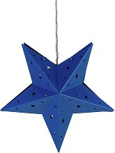 Argos Home Star Hanging Easyfit Shade - Blue