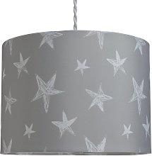 Argos Home Star Print Shade - Grey