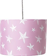 Argos Home Star Print Shade - Pink