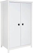 Argos Home Stars 2 Door Short Wardrobe - White