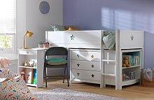 Argos Home Stars Mid Sleeper Bed, Drws, Desk &
