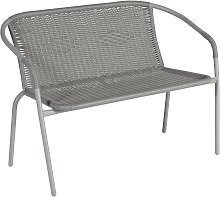 Argos Home Steel Wicker 2 Seater Garden Bench -