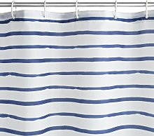 Argos Home Striped Shower Curtain - Navy