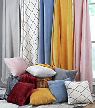 Argos Home Super Soft Fleece Cushion - Blush Pink
