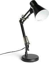 Argos Home Swing Arm Desk Lamp - Matt Black