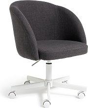 Argos Home Swivel Tub Office Chair - Charcoal